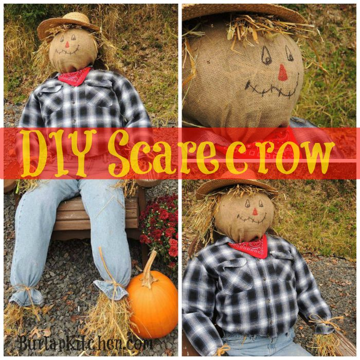Diy Scarecrow Burlap Kitchen