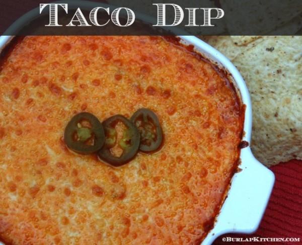 Taco Dip casserole dish easy recipe