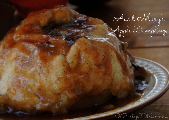 Aunt Mary's Apple Dumplings