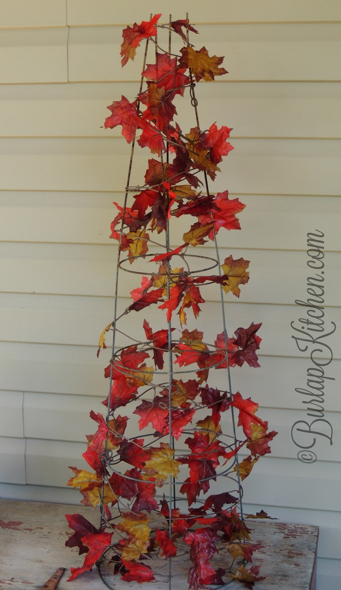 DIY Tomato Stake Fall tree - 3