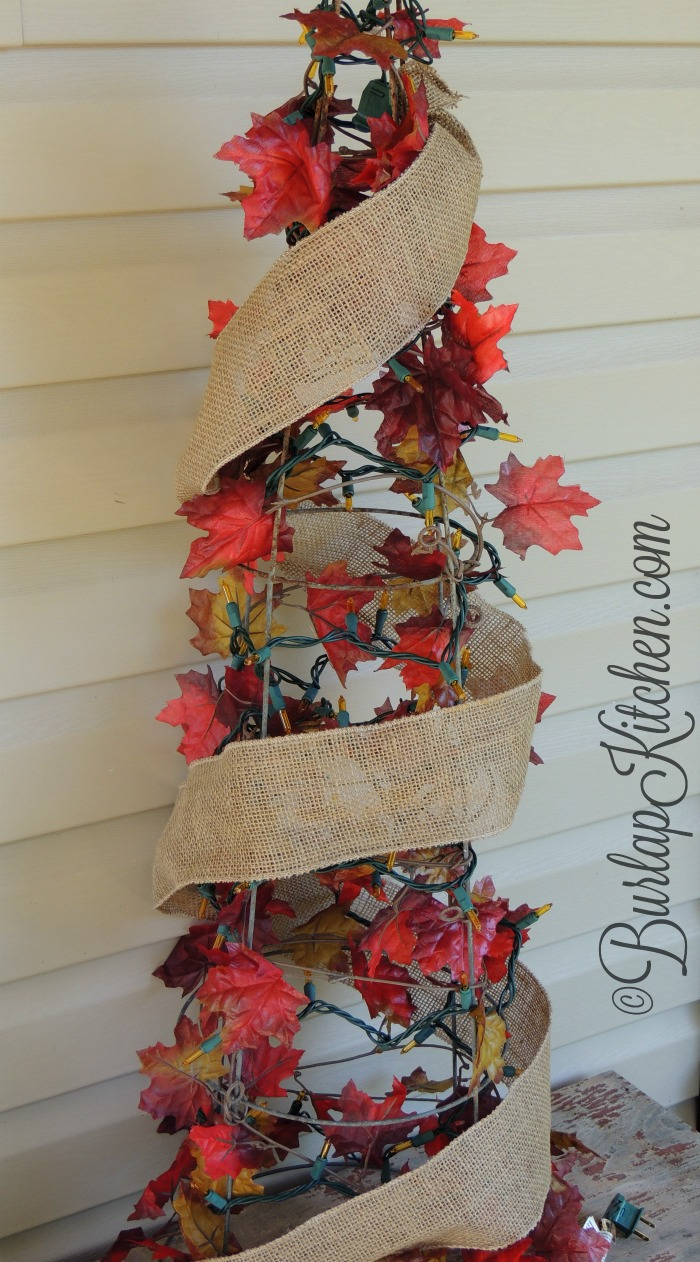 DIY Tomato Stake Fall tree - 5