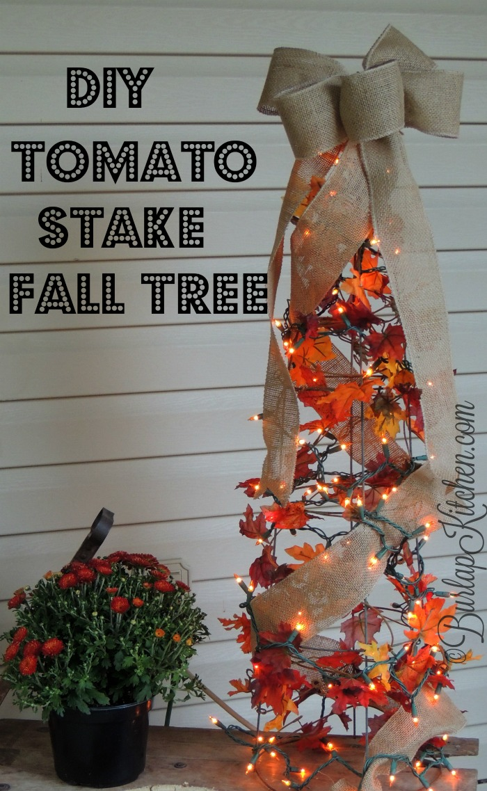 DIY Tomato Stake fall tree - final