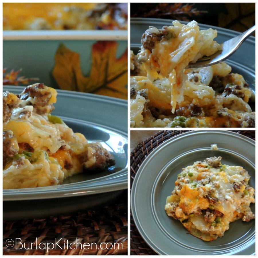 Potatoes and peas main