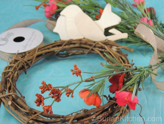 Bird seed wreath 1