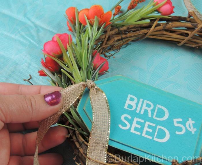 Bird seed wreath 3