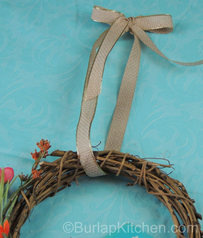 Bird seed wreath 4