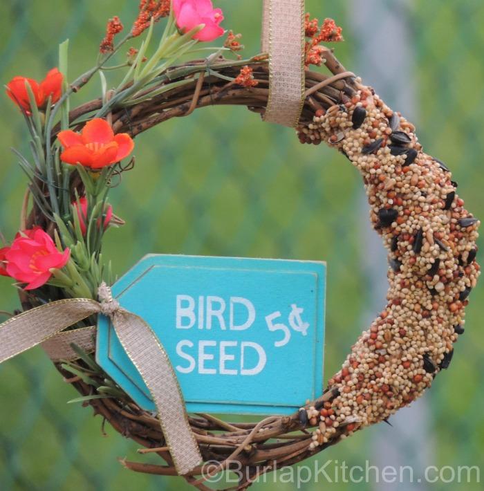 Bird seed wreath 6