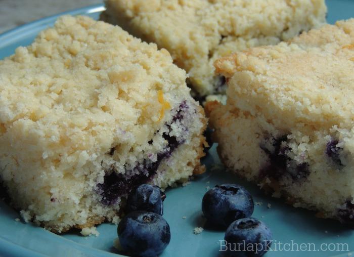 Lemon Blueberry Crumb cake 1