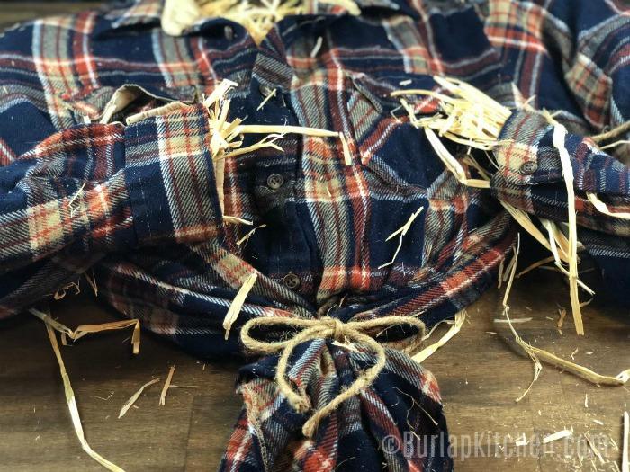 scarecrow wreath step 3
