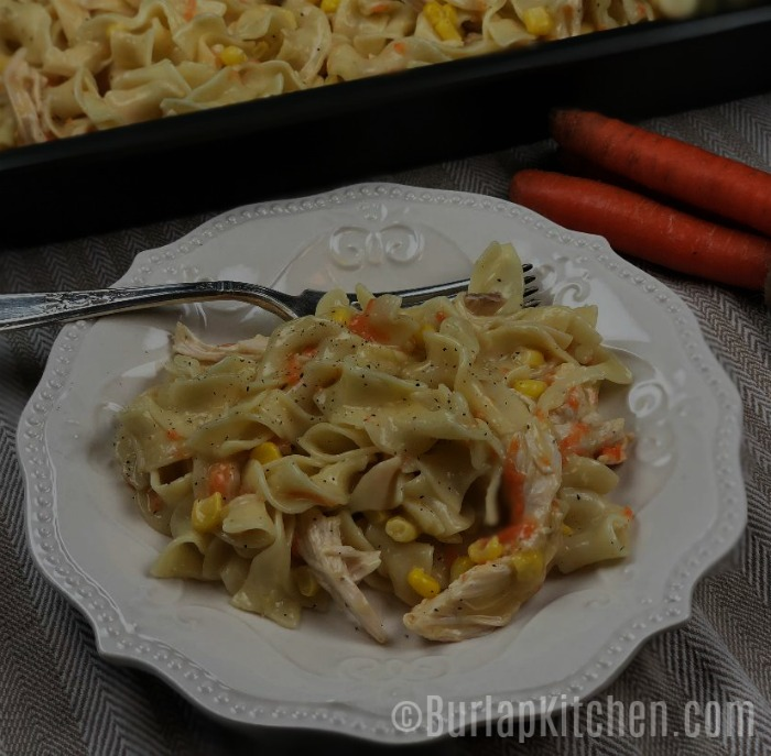 Chicken corn soup casserole 2 darker image