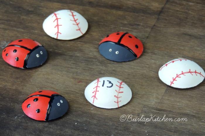 Baseball & Ladybug Magnets -2