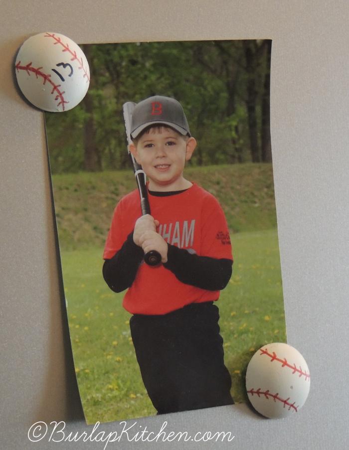Baseball & Ladybug Magnets -3