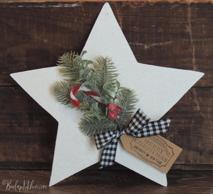 Dollar Tree Wood Star Makeover