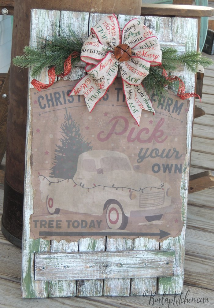 DIY gift bag wood sign