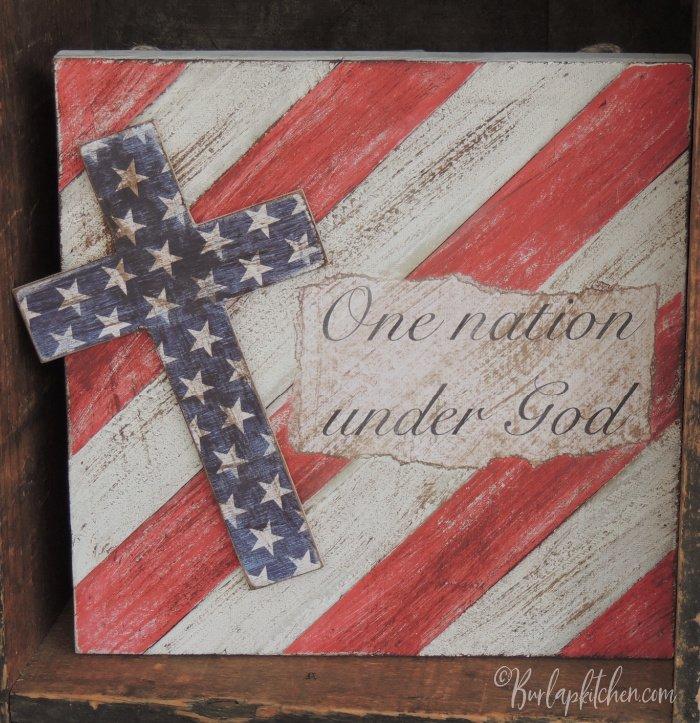 DIY one nation under God frame
