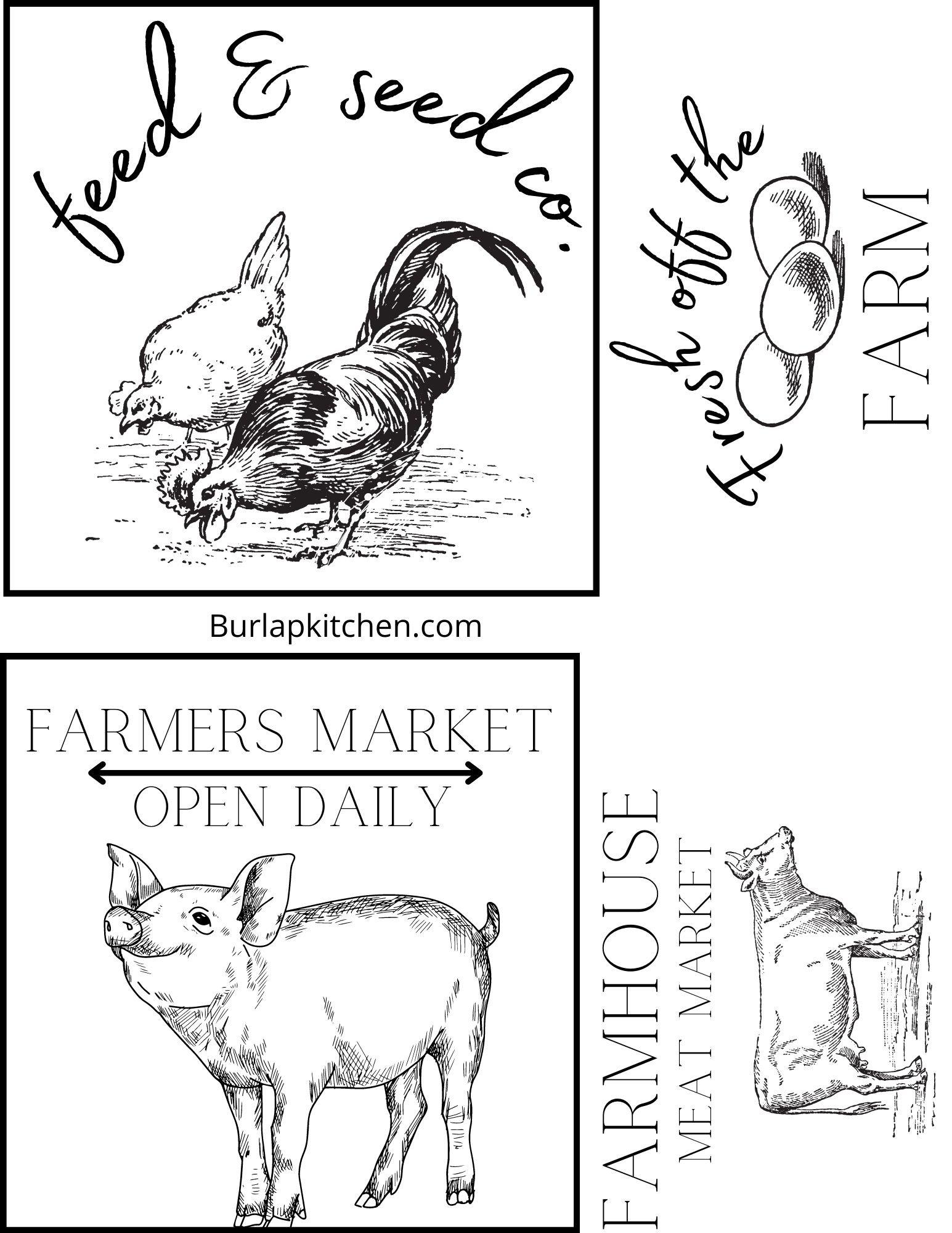 FREE farmhouse printable